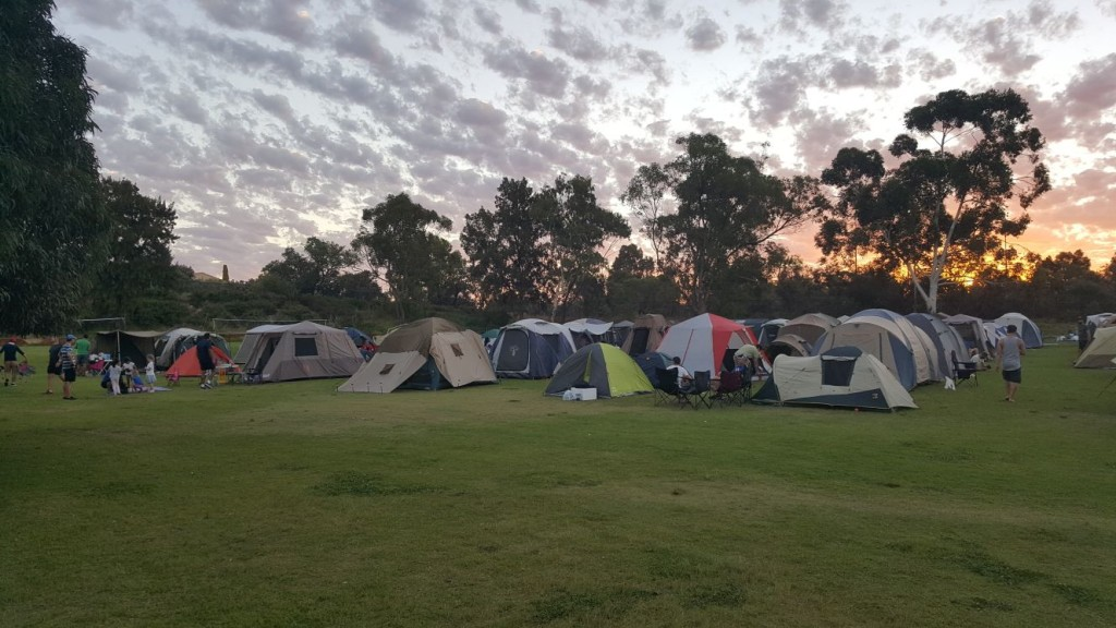 Dads and Kids Camp Out